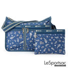 LeSportsac - Standard雙口袋A4大書包-附化妝包 (節慶/藍) 7507P F098