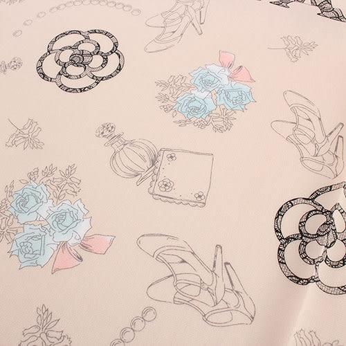 CLATHAS 山茶花花束純綿帕巾(粉膚色)989265-8