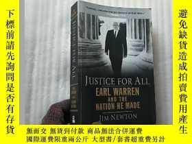 二手書博民逛書店JUSTICE罕見FOR ALL Earl Warren And