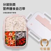 便當盒分隔型專用分格日式餐盒套裝【宅貓醬】