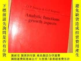 二手書博民逛書店Analytic罕見Functions-growth aspec