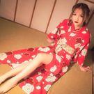 浴衣 日式和服睡衣女正裝性感浴衣長袖大碼日本櫻花京都學生睡袍【全館免運】