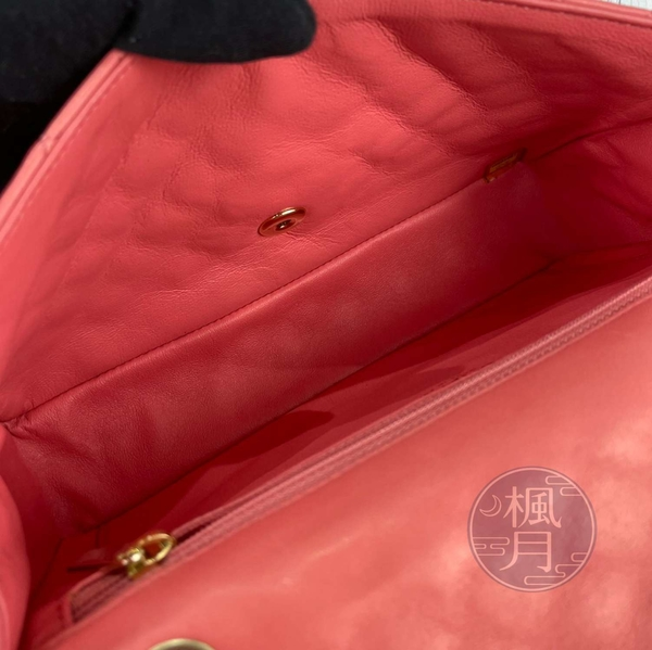 BRAND楓月 CHANEL 香奈兒 12開 情人節限量粉羊包 淡金釦 愛心吊飾 斜背包 肩背包 側背包 鍊包