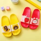拖鞋-兒童涼拖鞋夏男女童卡通軟底防滑洗澡中小童1-3-6歲寶寶沙灘拖鞋