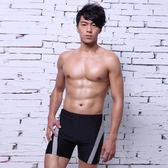 ★奧可那★型男灰條紋泳褲