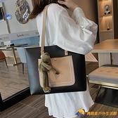 手提單肩大容量時尚女包托特包【勇敢者】