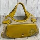 BRAND楓月 TODS 土黃色 皮革 拼接 拉鍊 竹編包 肩背包 手提包 托特包