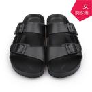【台福製鞋】極輕量防水勃肯拖鞋-黑/ 涼...