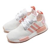 adidas 休閒鞋 NMD_R1 W 白 粉紅 女鞋 Boost 襪套式 運動鞋【ACS】 FV8730