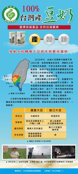 產銷履歷100%台灣產黃豆奶-無糖(箱)250ml*24瓶
