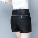 皮裙褲 皮褲女新款皮短褲裙韓版顯瘦百搭包臀皮裙褲打底短皮褲裙靴褲