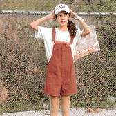 背帶褲 夏季新款寬鬆韓版學院風學生bf原宿風闊腿褲 GB5274『M&G大尺碼』