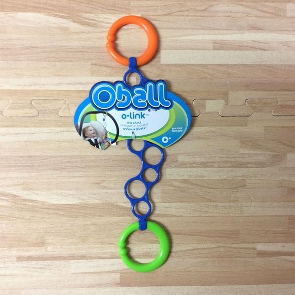 美國 Kids II-OBALL 洞動連接環 汽座掛環【橘綠】-超級BABY