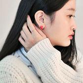 耳環 精緻正方半弧形耳環【TSES21】 BOBI  03/24