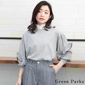 ❖ Hot item ❖ 荷葉袖拼接設計上衣 - Green Parks