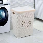 洗衣籃超大號方形塑料臟衣籃帶蓋洗衣臟衣服收納筐臟衣簍玩具收納籃 XY6053【KIKIKOKO】TW