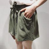 短褲女夏季學生寬高腰闊腿褲五分休閒熱褲子