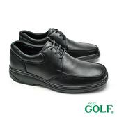 【GOLF】手工氣墊綁帶休閒鞋 黑色(GF297-BL)