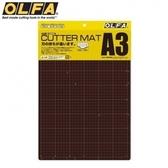 日本OLFA灰褐+咖啡色雙面切割墊135B切割布墊即CM-A3
