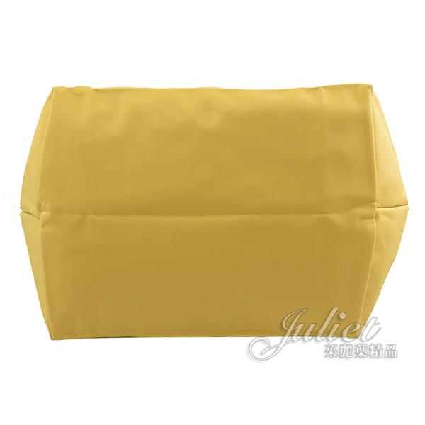 茱麗葉精品【全新現貨】Longchamp Le Pliage 折疊短肩帶手提包.香蕉黃 M #1623