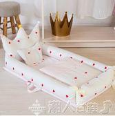 嬰兒床便攜式床中床寶寶嬰兒床多功能可折疊防壓新生兒仿生igo 潮人女鞋