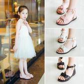 女童涼鞋夏季新款兒童涼鞋女中大童平底女孩韓版公主鞋 sxx1485 【大尺碼女王】