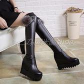 膝上靴 過膝長靴 過膝馬丁靴 長筒馬丁靴 過膝長靴內增高彈力靴厚底高筒坡跟長靴高跟長筒靴