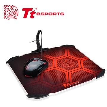 Tt eSPORTS 聖龍鱗DRACONEM 2016版雙面操控鋁板電競滑鼠墊MP-DCM-BLKHMS-01