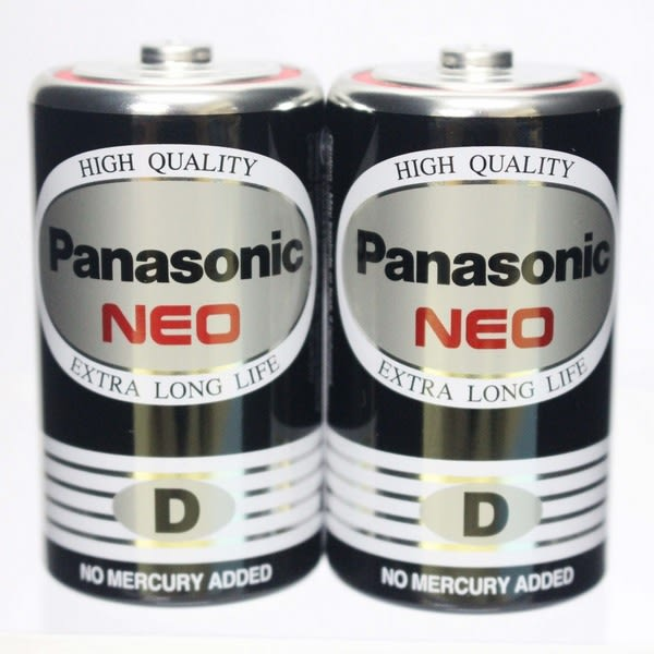 Panasonic 國際牌 D-1號環保電池(黑色)/一盒20顆入{促75} 1.5V 1號電池