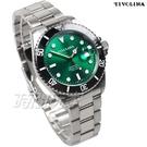 TIVOLINA 加強夜光 水鬼 槍魚系列 運動錶 男錶 放大日期顯示窗 不銹鋼 綠色 MAW3715N