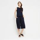Stella推薦-SISJEANS-深藍寬鬆休閒無袖連身褲【1719200683】