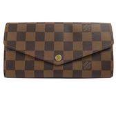 Louis Vuitton LV N63209 熱銷款發財包棋盤格紋扣式長夾 全新 現貨【茱麗葉精品】