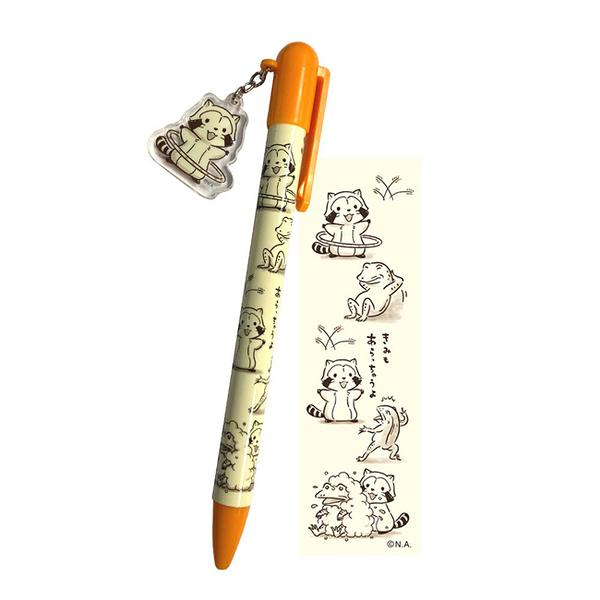 【日本正版】小浣熊 x 鳥獸戲畫 中性筆 日本製 原子筆 拉斯卡爾 Rascal - 577574