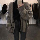 針織衫毛衣女秋裝chic上衣學生韓版寬鬆慵懶外套長袖針織開衫潮      都市時尚