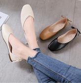 護士鞋 方頭韓版平底鞋蝴蝶結復古奶奶鞋軟底單鞋女護士鞋 免運維多