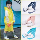 兒童中筒雨鞋男女童防水防滑雨靴中大童水鞋橡膠鞋夏