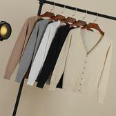 針織外套 外搭寬鬆早秋女裝新品針織衫開衫短版薄版春秋天毛衣長袖外套