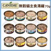 CANIDAE 無穀貓主食罐70g 貓罐頭 貓咪罐頭 貓湯罐 貓咪主食罐 現貨 宅家好物