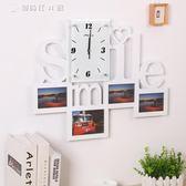 鐘錶掛鐘客廳裝飾臥室餐廳木質相框時鐘藝術個性掛錶靜音YYS 【創時代3c館】