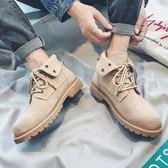 聖誕禮物馬丁靴 馬丁靴男高幫男士戶外工裝靴子秋季個性兩穿馬丁