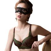 思薇爾-薔薇魅影系列B-G罩背心式蕾絲包覆內衣(深可可)