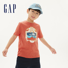 Gap男童Gap x Star Wars星際大戰系列棉質舒適圓領短袖T恤539434-深木瓜黃