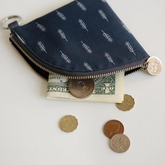 ✭慢思行✭【B54】韓版印花扇形零錢包 卡片 鑰匙圈 收納 閨蜜 禮物 迷你 學生 上班族 便攜