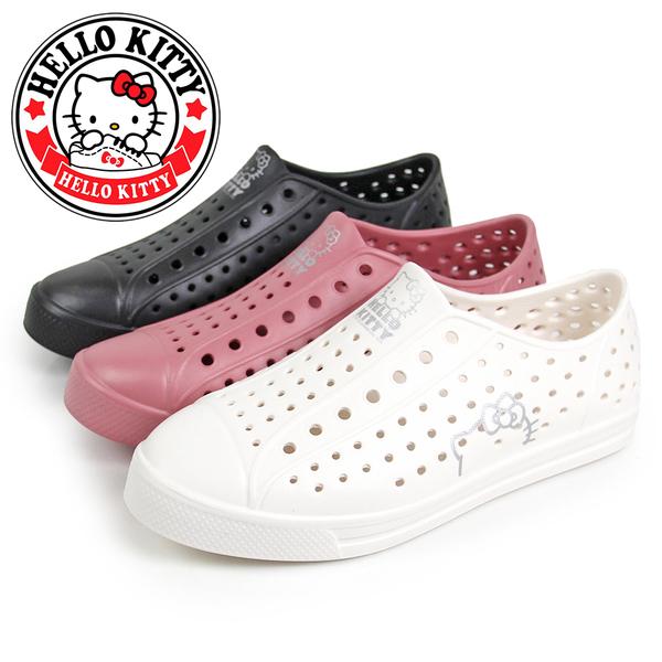 N-20118 凱蒂貓一體成型防水休閒洞洞鞋/雨鞋【HELLO KITTY 】