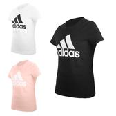 ADIDAS 女短袖T恤(亞規 純棉 休閒上衣 慢跑 路跑 愛迪達 免運 ≡排汗專家≡
