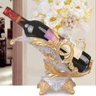 紅酒架歐式葡萄酒架創意樹脂客廳家用酒櫃壁櫥裝飾品擺件空酒瓶架 聖誕節 LX