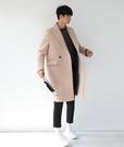 【找到自己】韓國 長版 大衣 立體剪裁 兩色 黑 西裝 英倫 特惠下殺 變身李敏浩