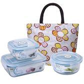 NEOFLAM玻璃保鮮盒-含蓋附袋(7件組)【愛買】