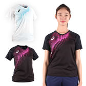 ASICS 女短袖排球印花T恤 (免運 短T T恤 排球 競賽 亞瑟士≡排汗專家≡