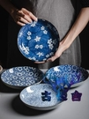 日式陶瓷餐盤深盤菜盤圓盤碟子家用餐盤餃子盤【古怪舍】